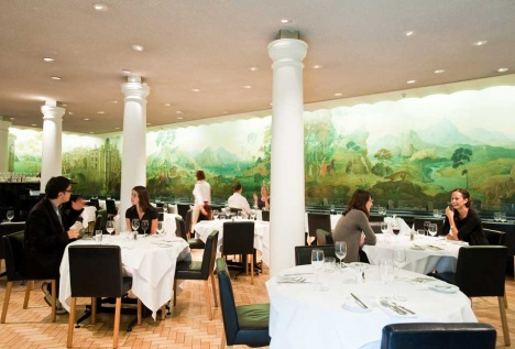 Comfortably hungry lunch at the rex whistler restaurant for Mural restaurant