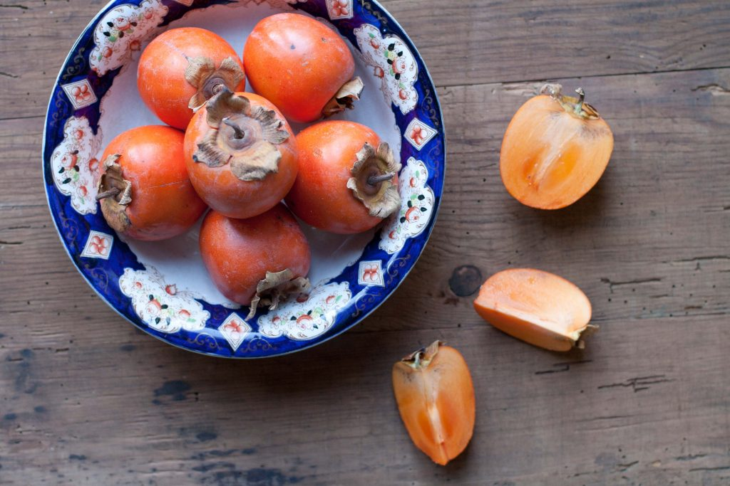 Persimmons in a bowl LR