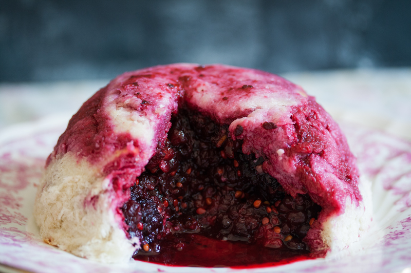 Mulberry Summer Pudding